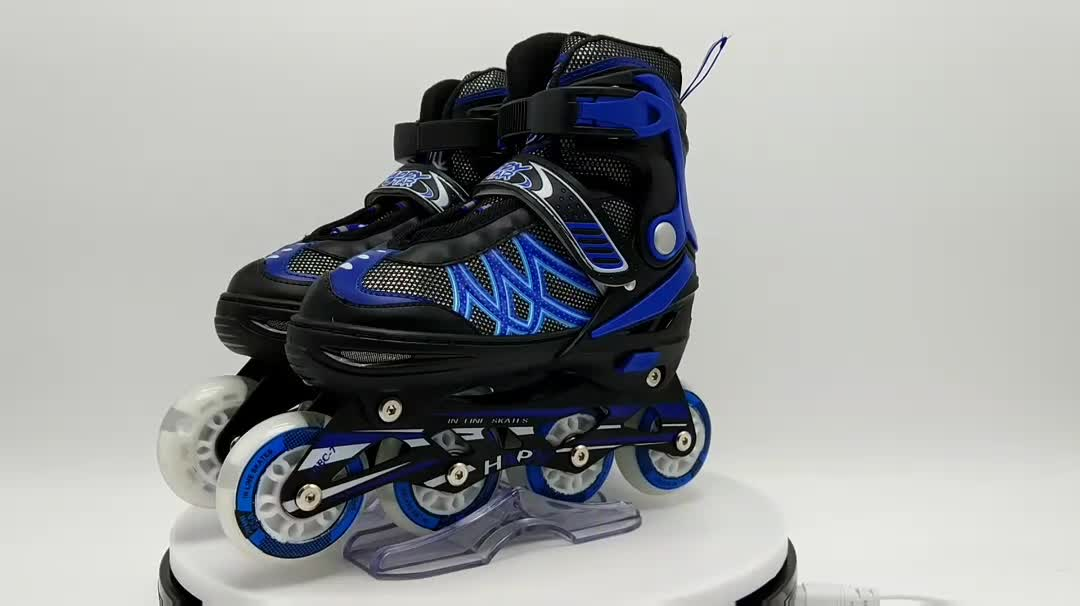 2017 China wholesale powerslide inline skates, 4 wheels skate shoes patins shoes popular sale for adults