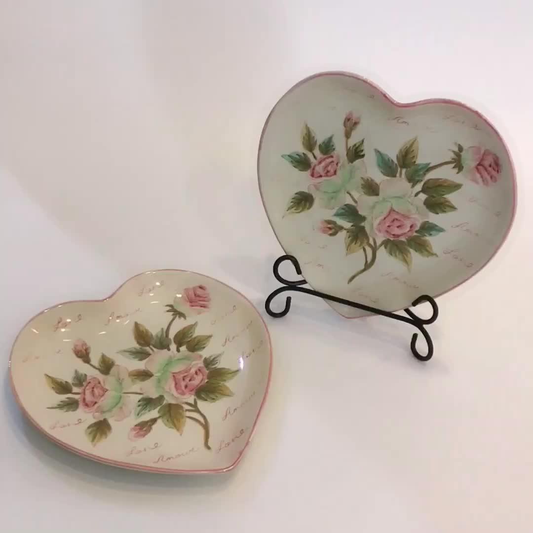 Custom Made Hand Painted Ceramic Heart Shaped Bulk White Dinner Plates & Custom Made Hand Painted Ceramic Heart Shaped Bulk White Dinner ...
