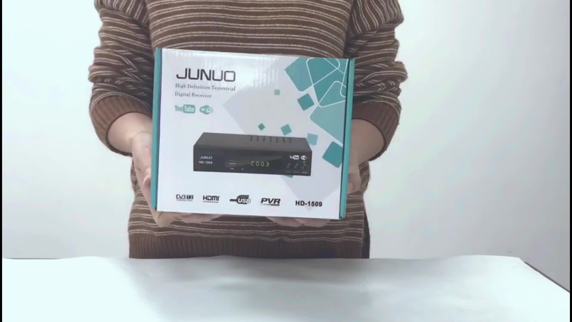 JUNUO TV Receiver Supplier Digital Pakistan TV BOX DVB-S2 Satellite Receiver