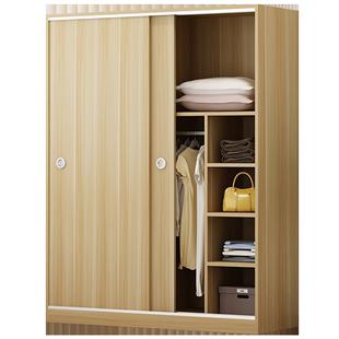 衣櫃簡約現代經濟型組裝卧室推拉門實木板式櫃子兒童木質宿舍衣櫥