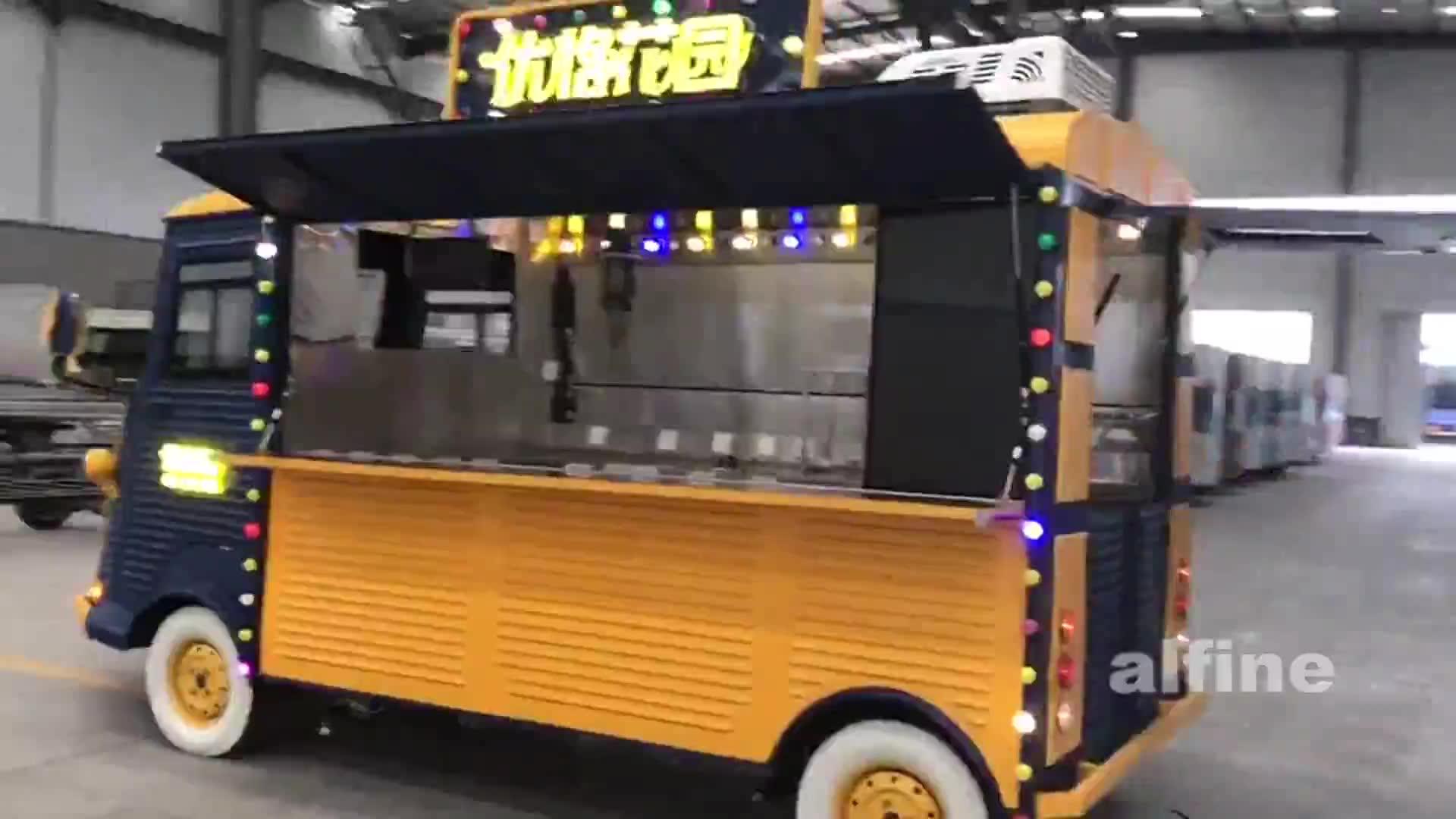 2019 BBQ mobile food van electric food truck