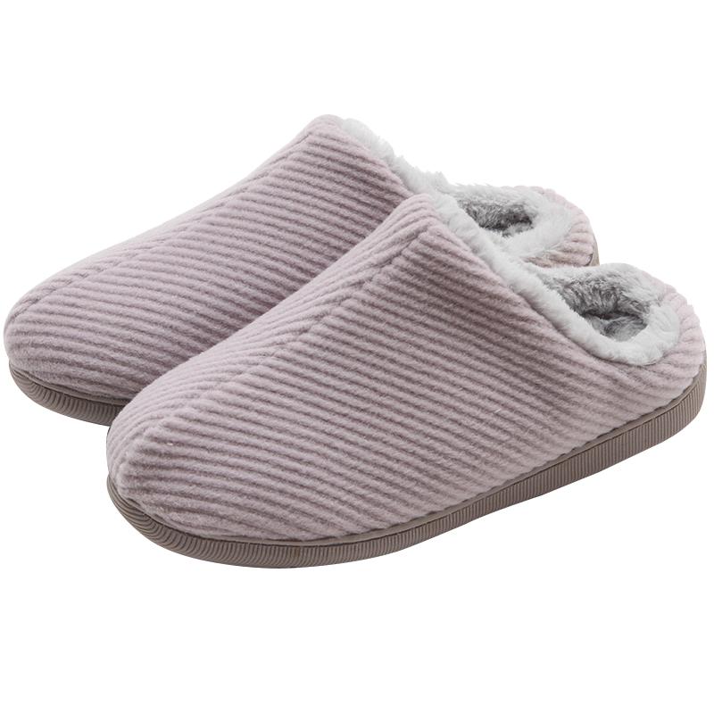 绿风棉拖鞋女冬季室内韩版可爱毛绒保暖厚底防水家用防滑月子鞋