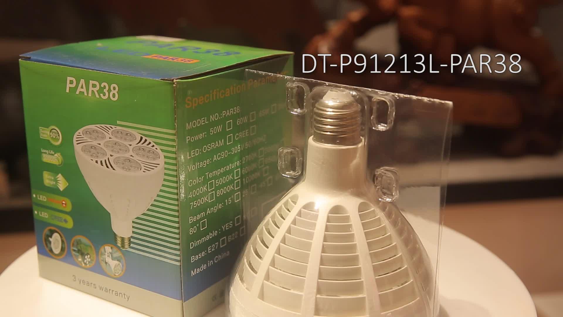 Quick Delivery Time SZDAYTON Economical ETL Dimmable 5000LM PAR38 50W 60W 6000K 8000K 9000K 10000K Jewelry Display Lighting