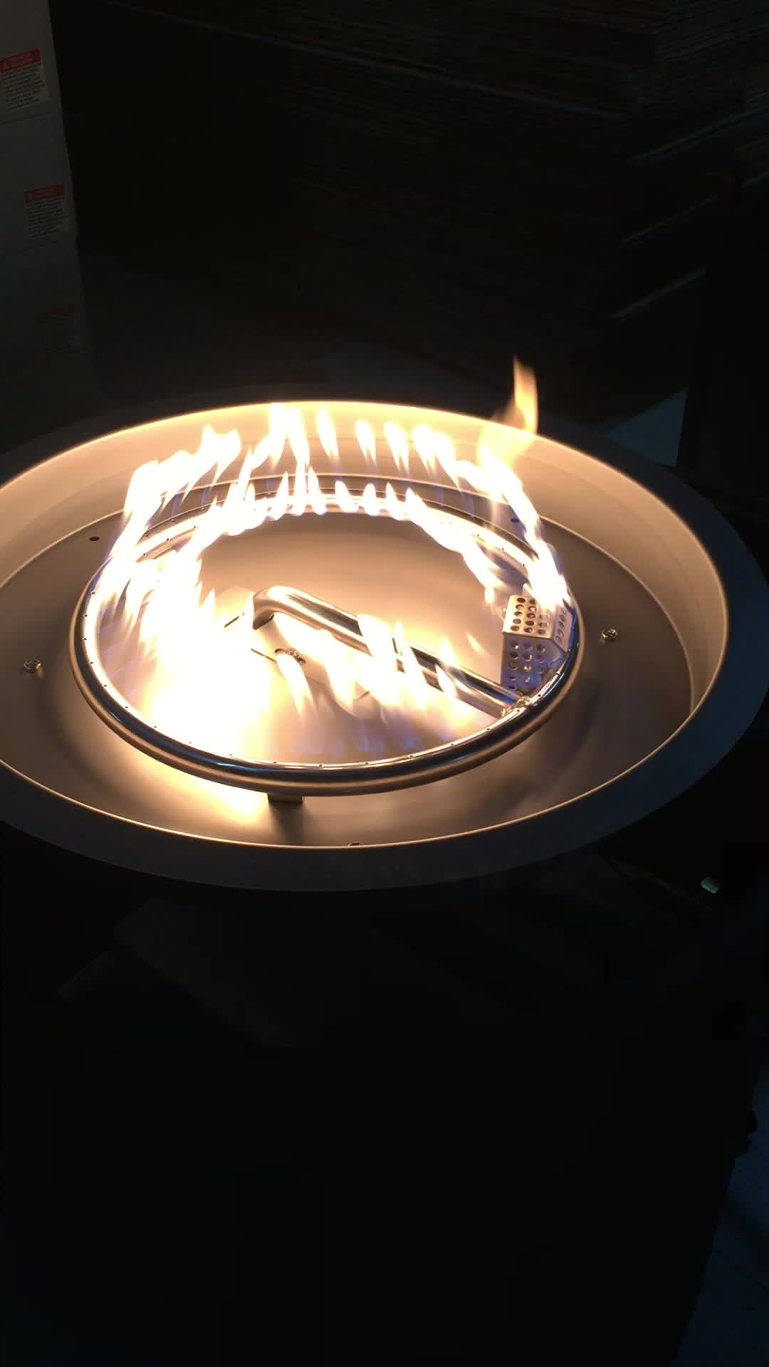 55,000 BTU 42in दौर ग्रेनाइट शीर्ष प्रोपेन गैस आग गड्ढे टेबल, सीएसए प्रमाण पत्र