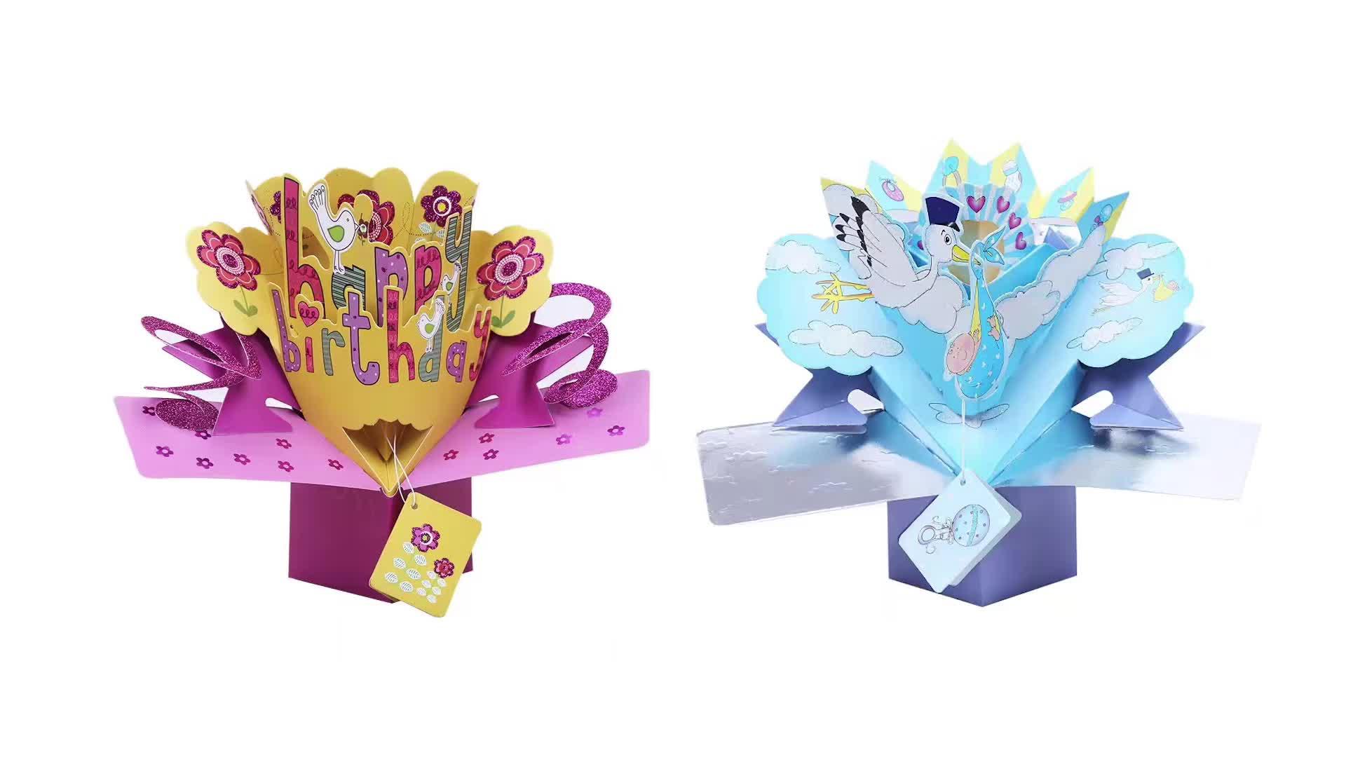 Custom Invitation Thank You Card Happy Birthday Greeting Cards For