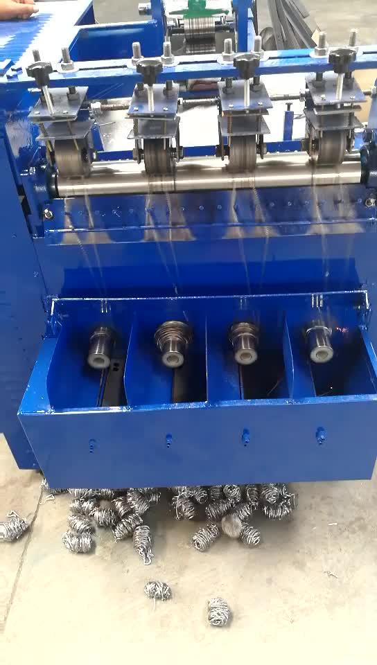 full automatic spiral scourer making machine