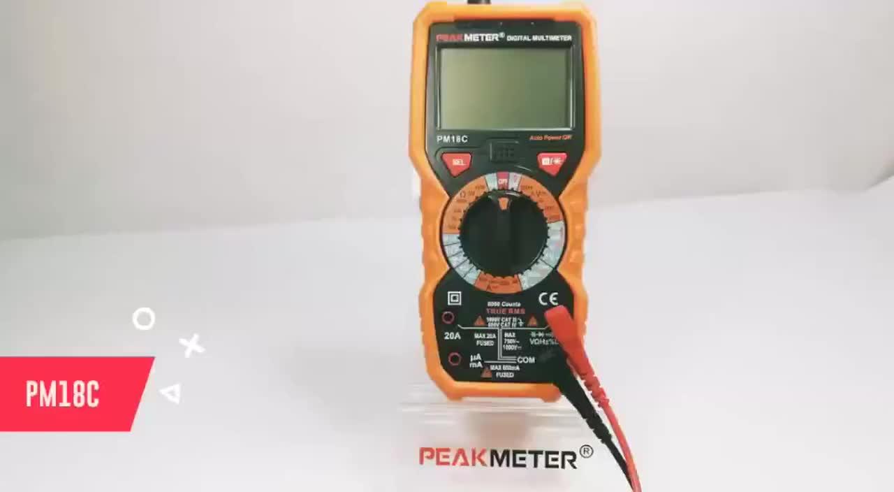 6000 Counts Temperature Test 1000V AC DC 20A AC DC Multifunction Digital Multimeter