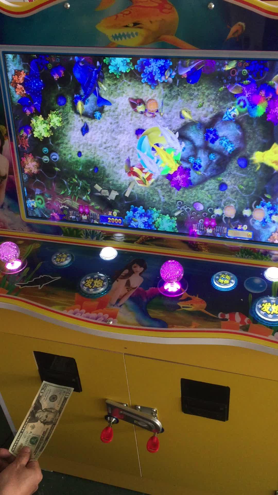 Mini Tip Kabine Okyanus Kral Arcade Hileleri 2 Oyuncu Gambing Balıkçılık Oyun Makinesi