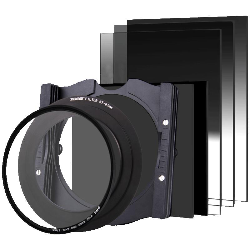 卓美方形滤镜100mm高清镀膜光学玻璃渐变镜中灰镜ND1000适用佳能