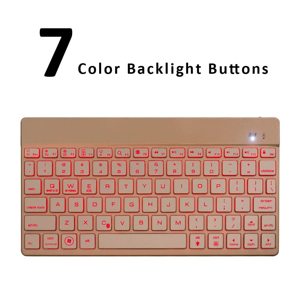 9.7 inch Bluetooth French Light Backlit Keyboard for Apple iPad and Windows Tablet