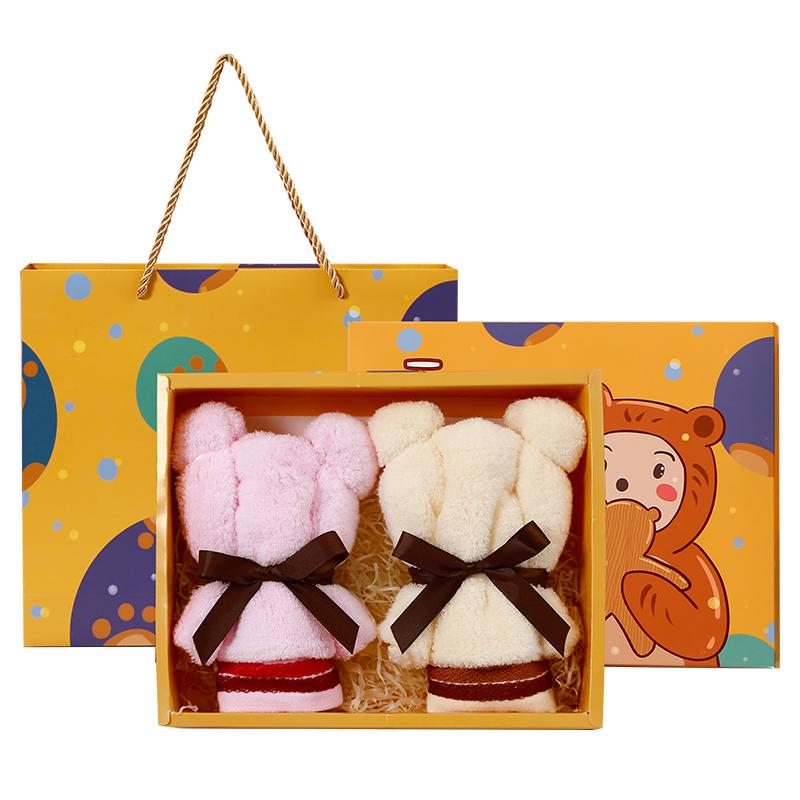 教师节礼物中秋节伴手礼小礼品毛巾熊实用送客户员工生日10元以内