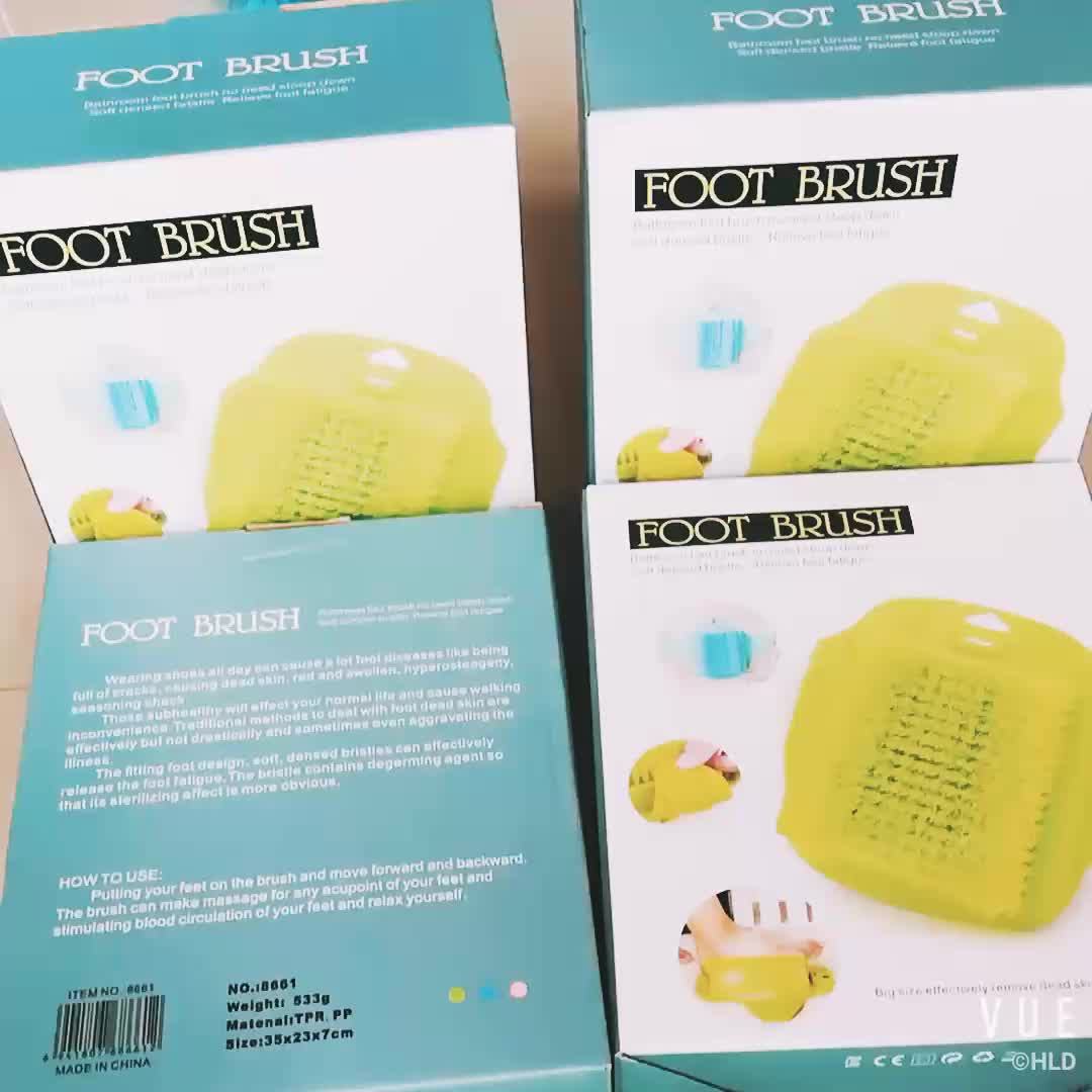 Factory Wholesale Suction Cup Bathroom Foot Cleaning Brush