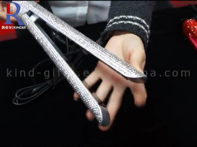 Most Gorgeous Glitter Diamond Bead Crystal Famous High Tech Magical Hair Straightener