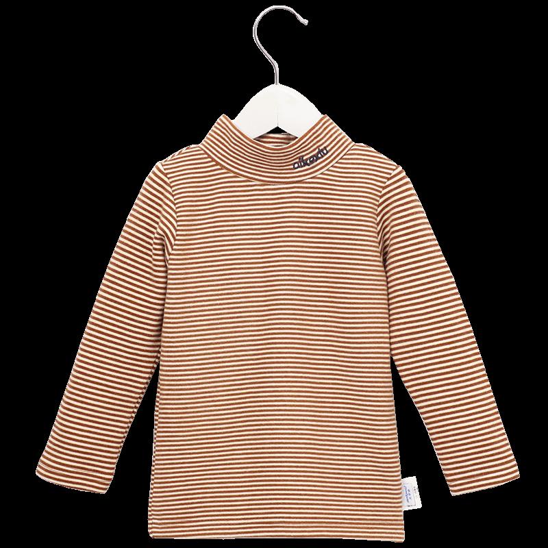 童装秋装2019新款儿童长袖条纹T恤女童打底衫韩版洋气 宝宝上衣潮