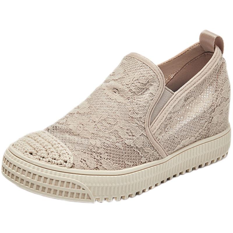 内增高渔夫鞋女2021新款网面帆布鞋评价好不好?