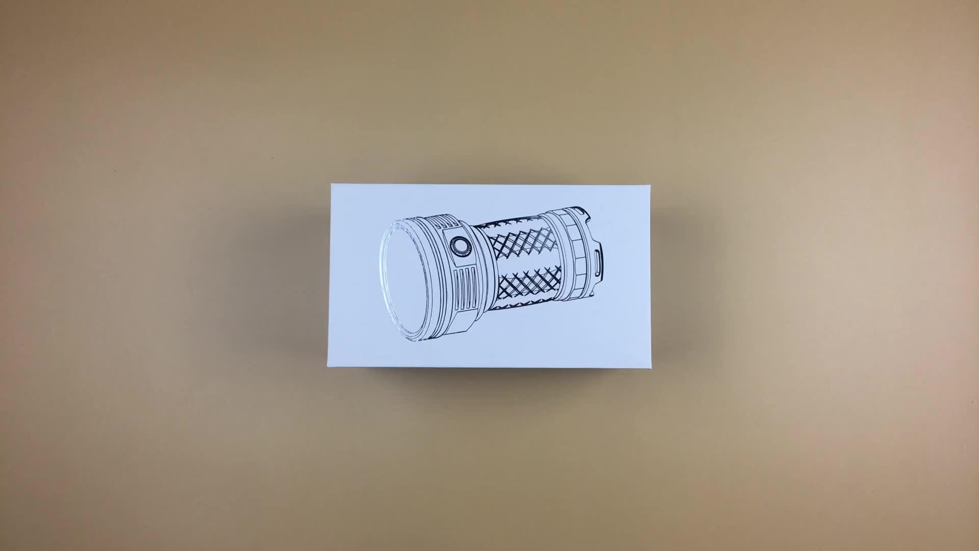 Luz de inundação do brilho alto 12000 lúmens 18 * punho do cree XPG3 18000 lúmens 50 watts conduziram a lanterna elétrica tocou 8000 lúmens do lúmen