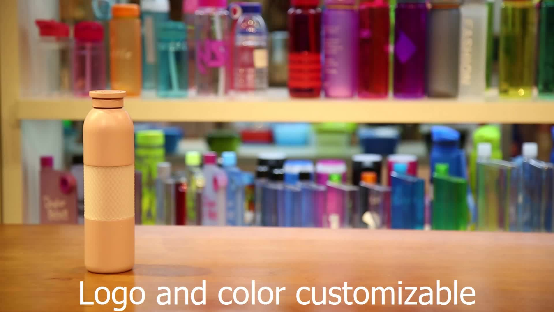 New Design Double Wall colored insulated stainless steel water bottle