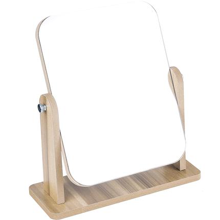 网红木质台式宿舍女桌面便携化妆镜