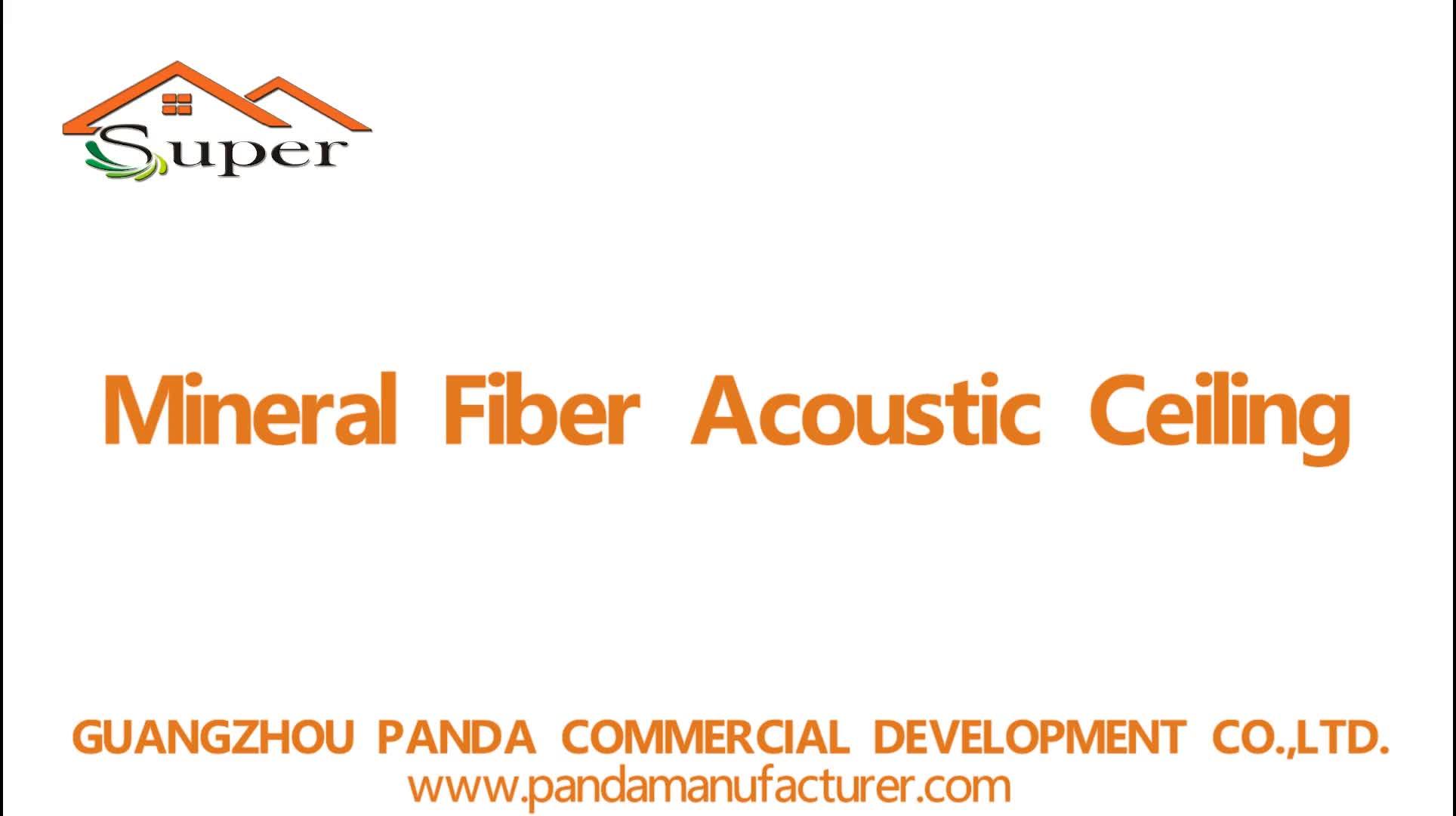 White Sound Acoustic Square Mineral Fiber Ceiling False Ceilings