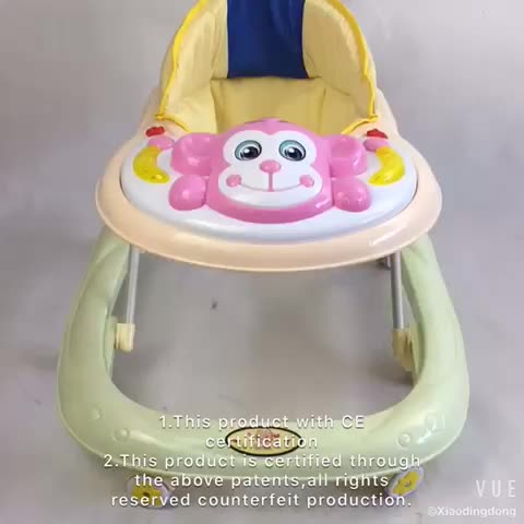 WHOLESALE BABY WALKER WITH MUSIC AND LIGHT NEW CHEAP PLASTIC BABY MUSICAL WALKER BABY WALKER WITH BRAKES