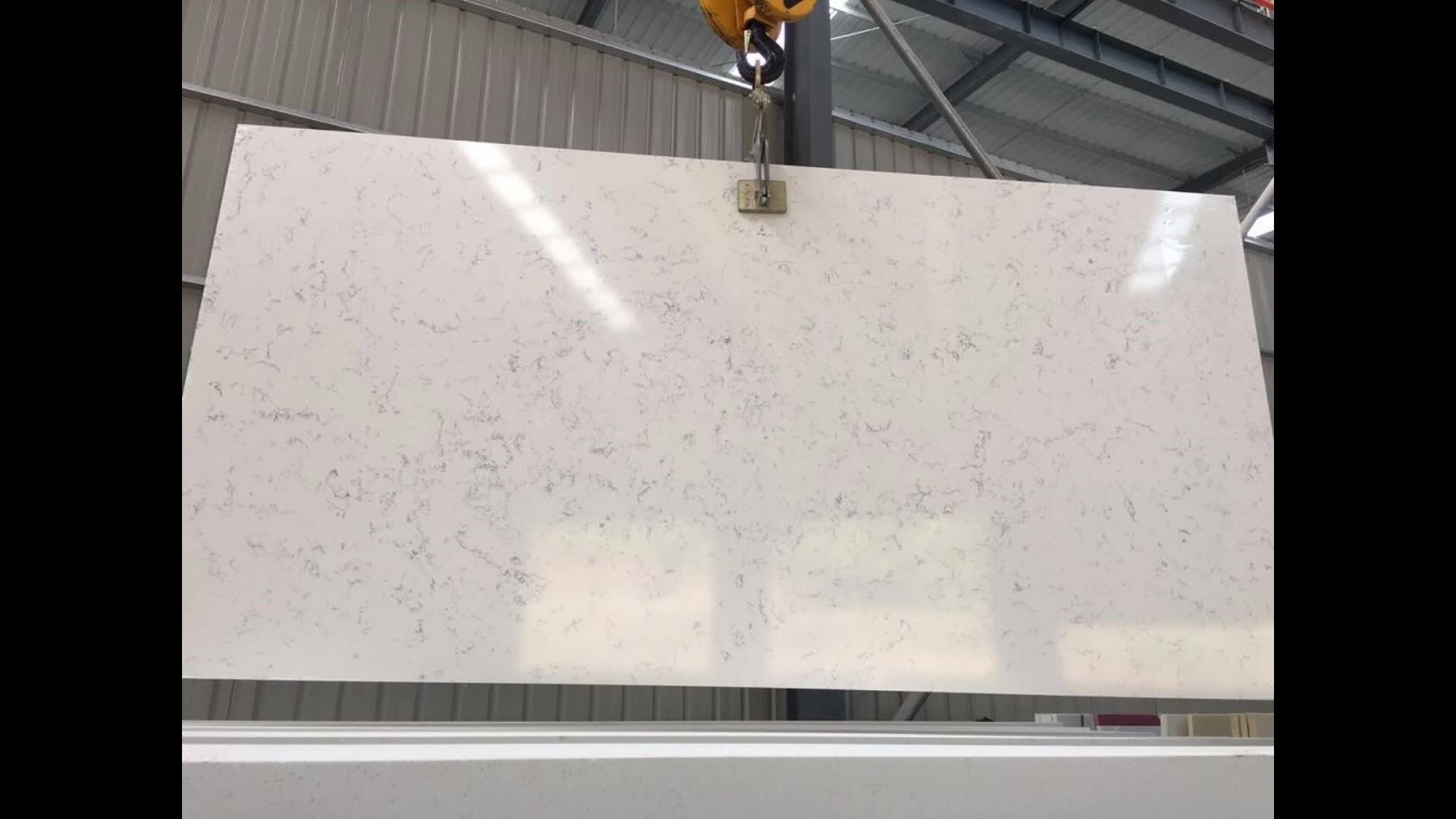 China White Quartz Kitchen Counter Top And Quartz Dinner Table With Hot Sale