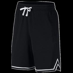 篮球男五分裤黑白色经典训练裤短裤