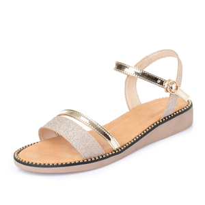 真皮凉鞋女网红蜻蜓平底夏季女鞋