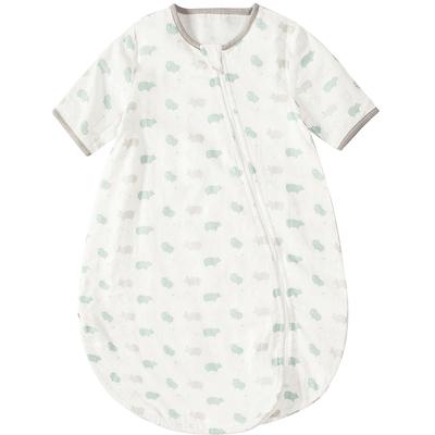 婴儿睡袋春秋防踢被纱布宝宝一体式睡袋秋冬款婴儿睡袋四季通用