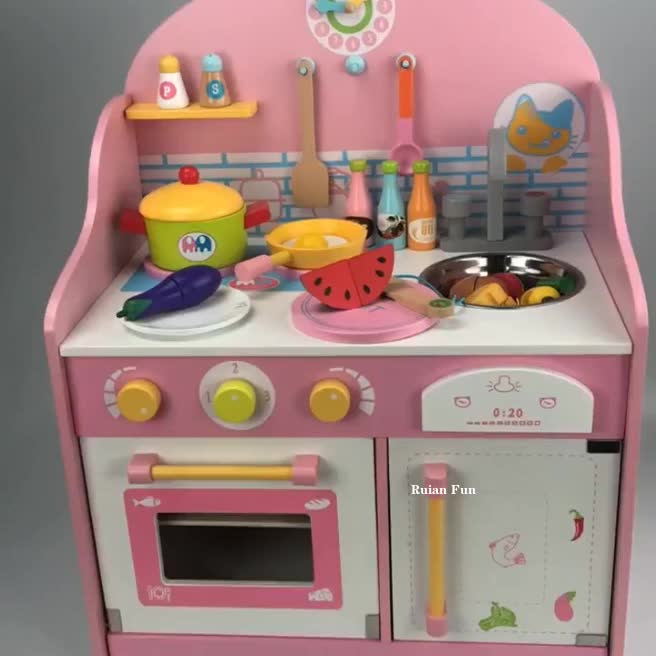 At10845 Mother Garden Kitchen Toy Set Cooking Games,Pink