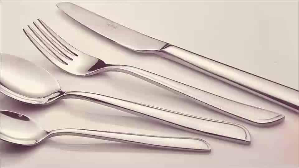 Cuchillos de acero inoxidable cucharas Forks pulido espejo moderno elegante cubiertos Lianyu cubiertos