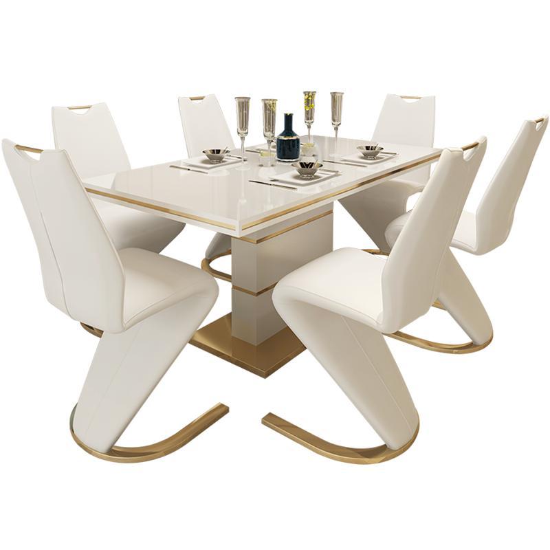 后现代家用现代简约长方形轻奢饭桌质量好不好