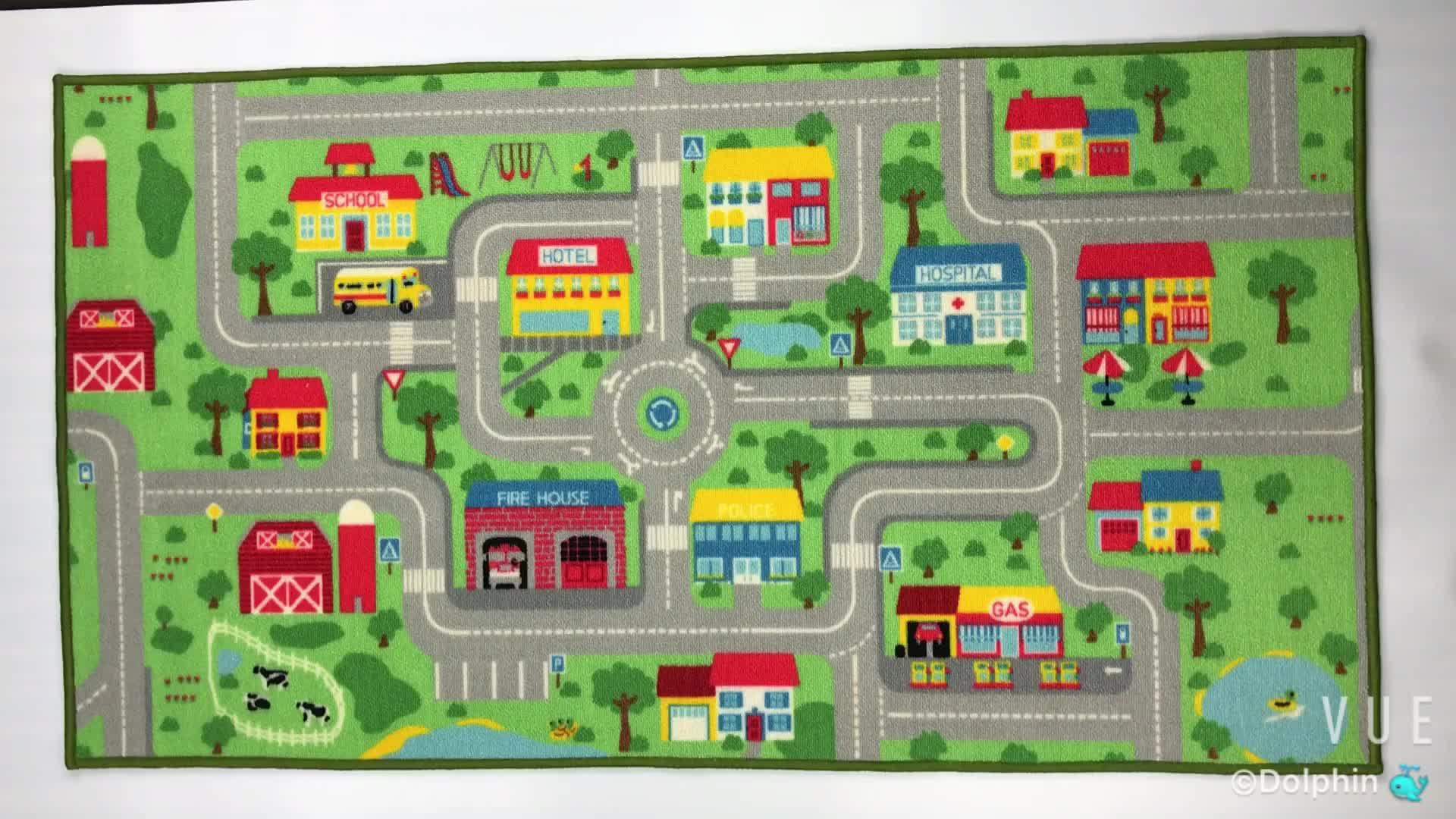 Custom Design Mat Soft Floor Games Carpet Indoor Kids Play Mat