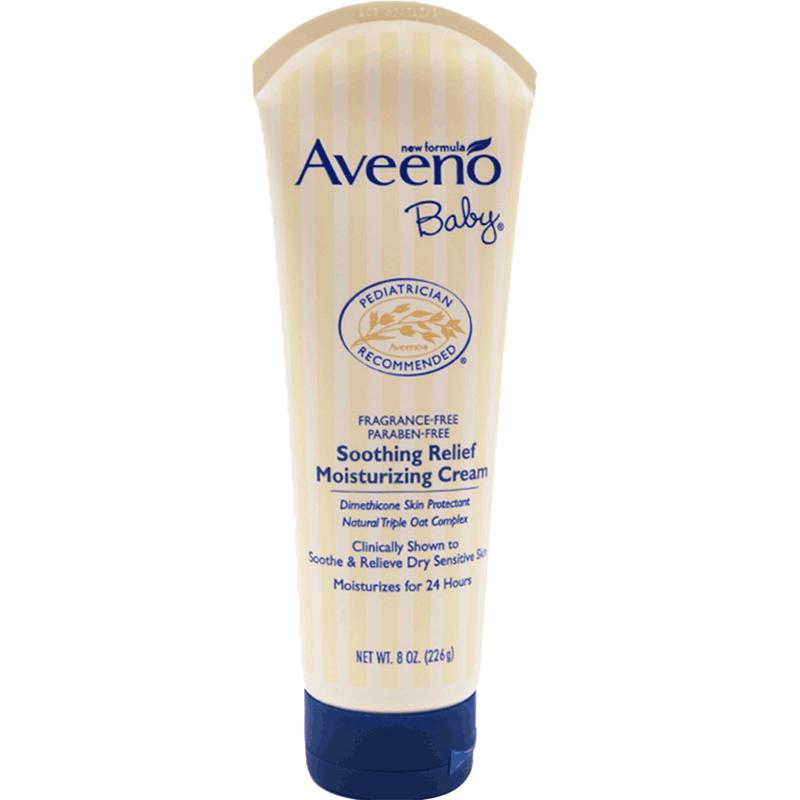 美国Aveeno艾惟诺进口婴儿燕麦保湿润肤乳补水身体乳面霜226g