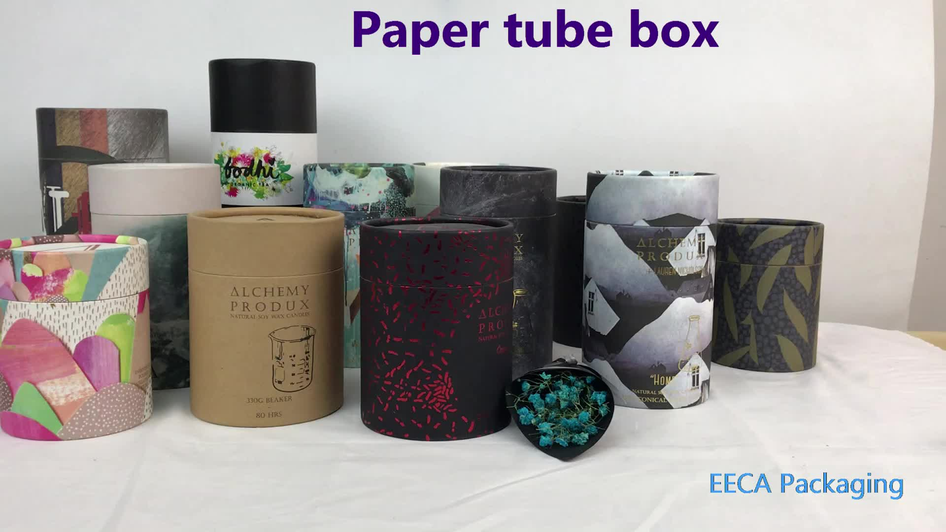 Luxury Customized Paper Gift Box Packaging Hat Paper Candle Box In EECA