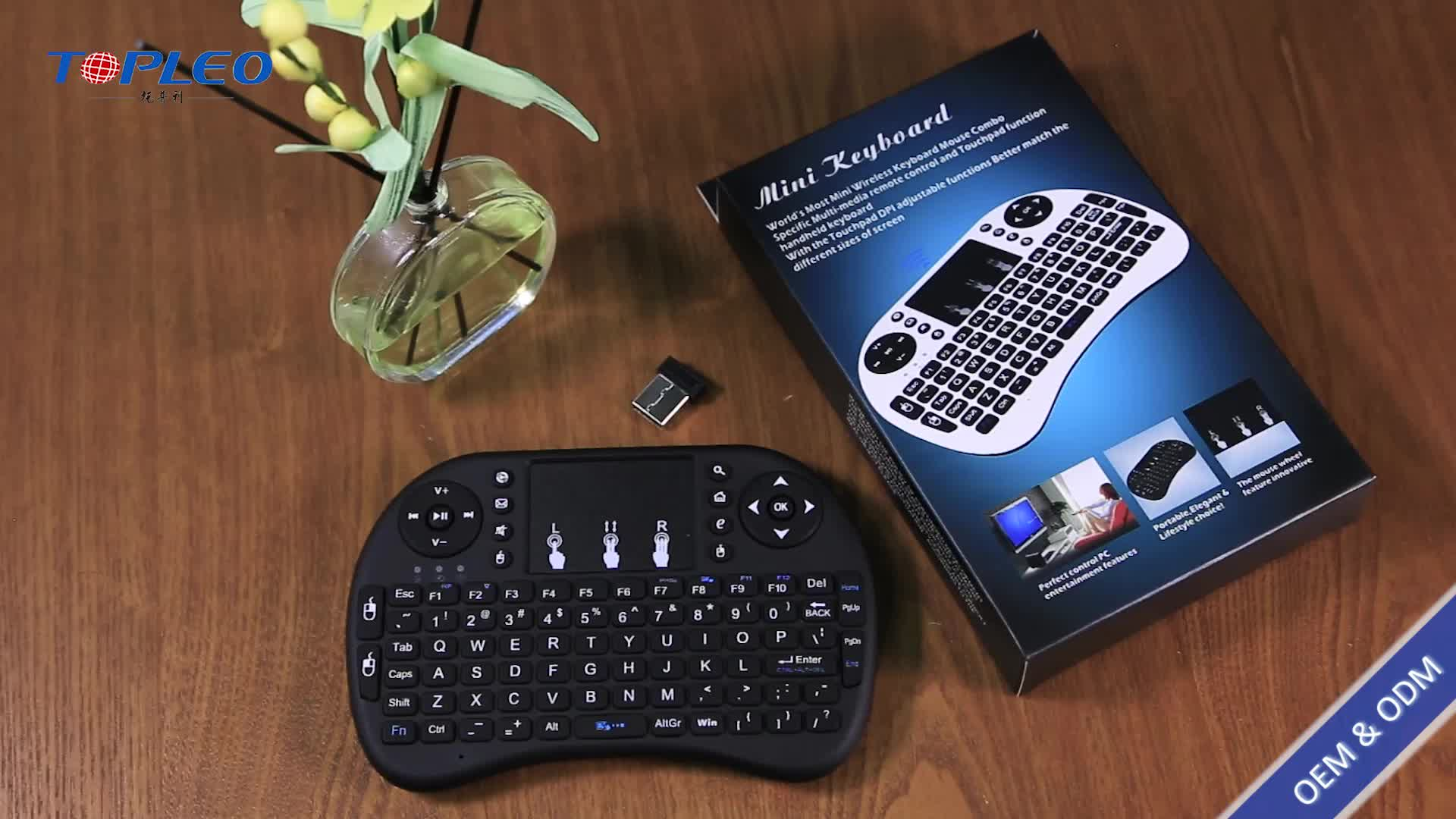 Teknologi terbaru back-light mini keyboard dan mouse nirkabel dengan touch touchpad sensitif