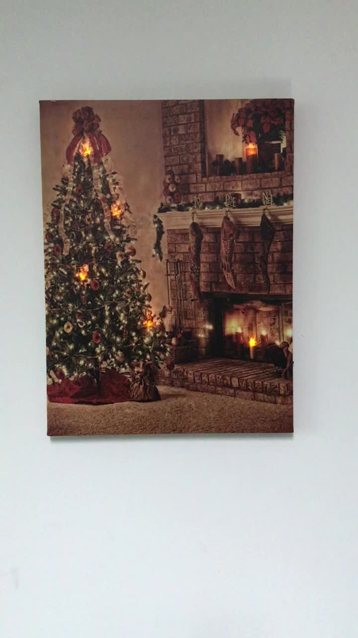 Christmas Tree Led Canvas Wall Art Light Up Christmas Canvas Buy Led Wall Art Led Canvas Light Up Canvas Product On Alibaba Com