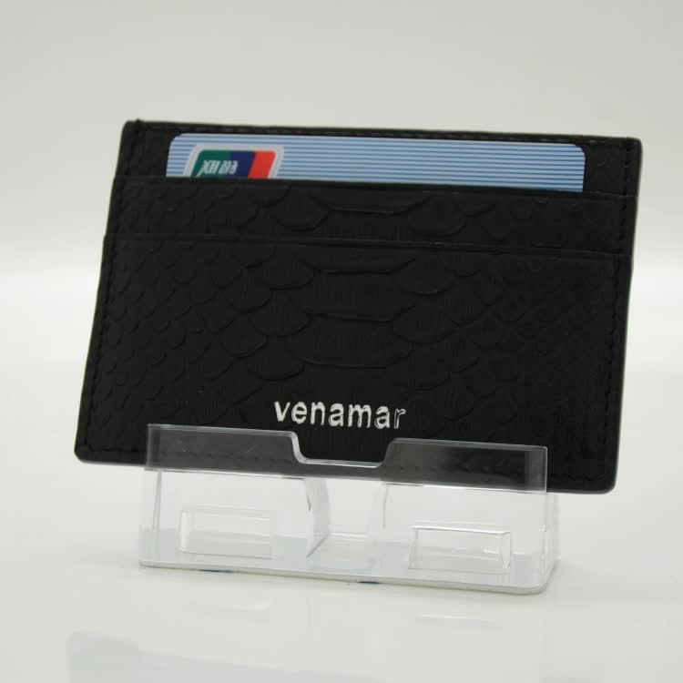 Handmade High Quality Real Python Leather Business Card Holder