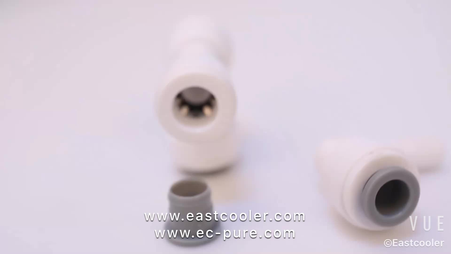 Quick fittings EF007-C NINGBO PUDEKANG ROHS certificate T type Push Fit Pipe Fittings