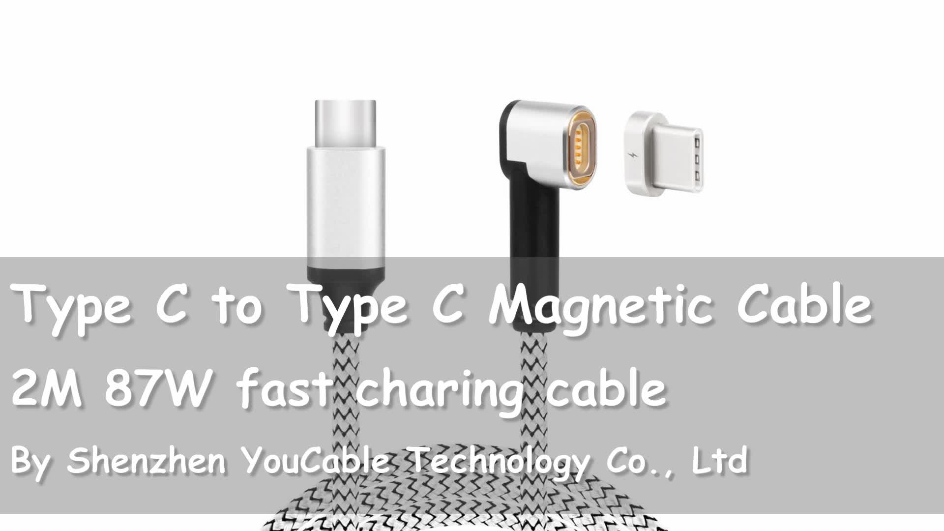 YouCable New 90 Degree L Shape 2M Magnetic Cable