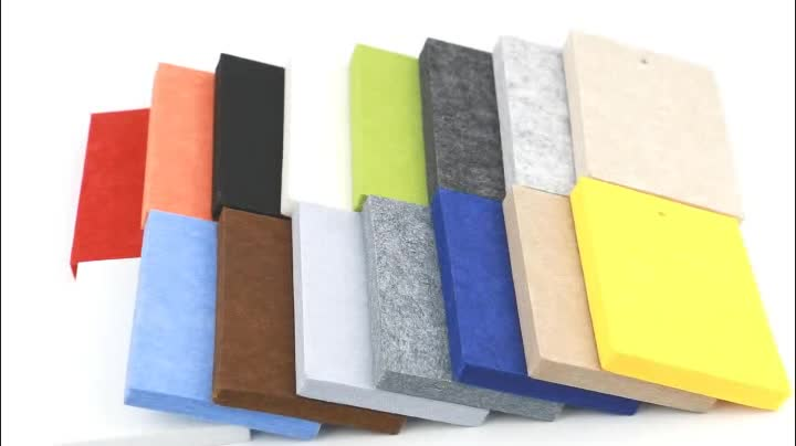 Soundproof Material PET Wall Panels Polyester Fiber Acoustic Panels
