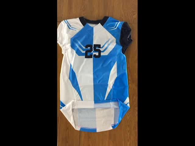 American Football Uniform Mew Cap Sleeves Football Jersey Sublimated Apparel