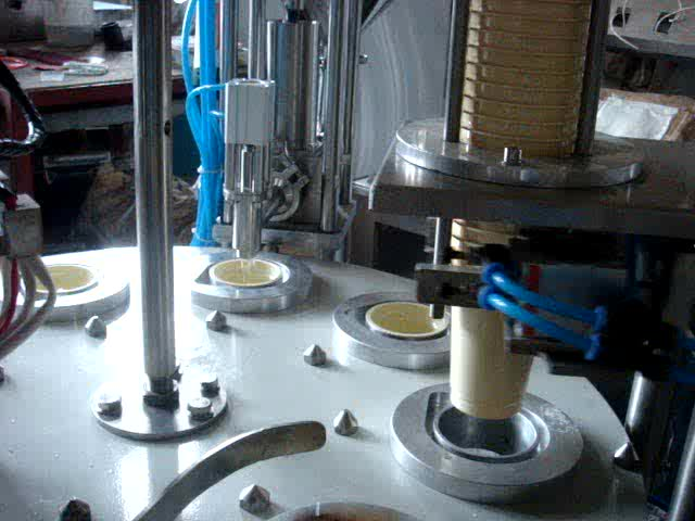 Automatic water yogurt rotary cup filling and sealing machine with CE certificate