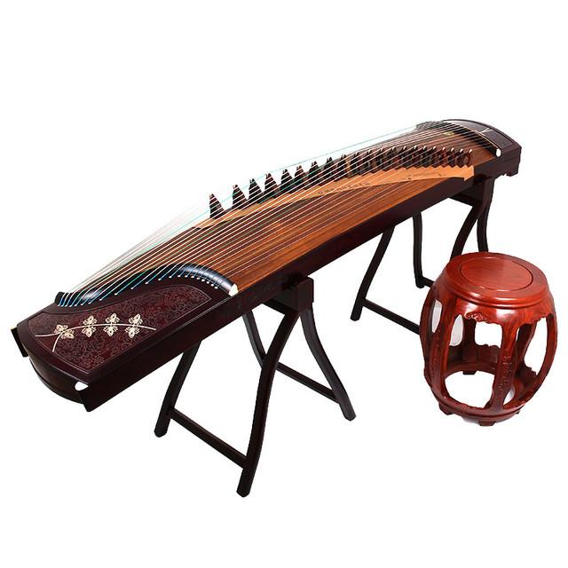 敦煌牌古筝5698JT凤枝吟月大家闺秀黄檀演奏筝上海民族乐器一厂