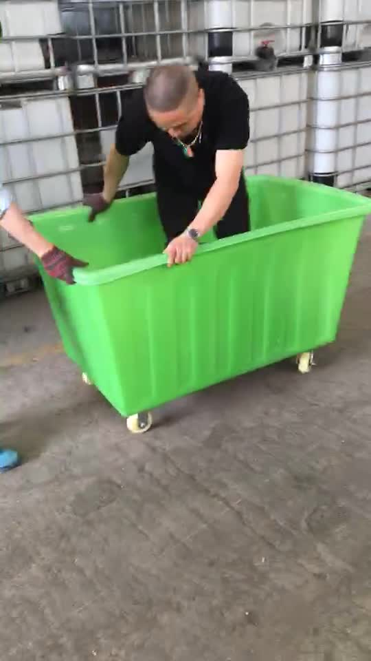 Heavy Duty Large Rolling Plastic Container Tub On Wheels