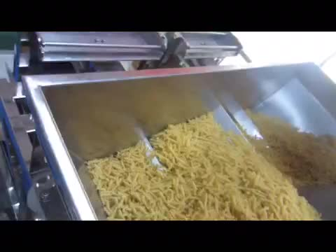 Two heads large weight linear filling packaging machine for  ice cube soybean grains seeds fertilize