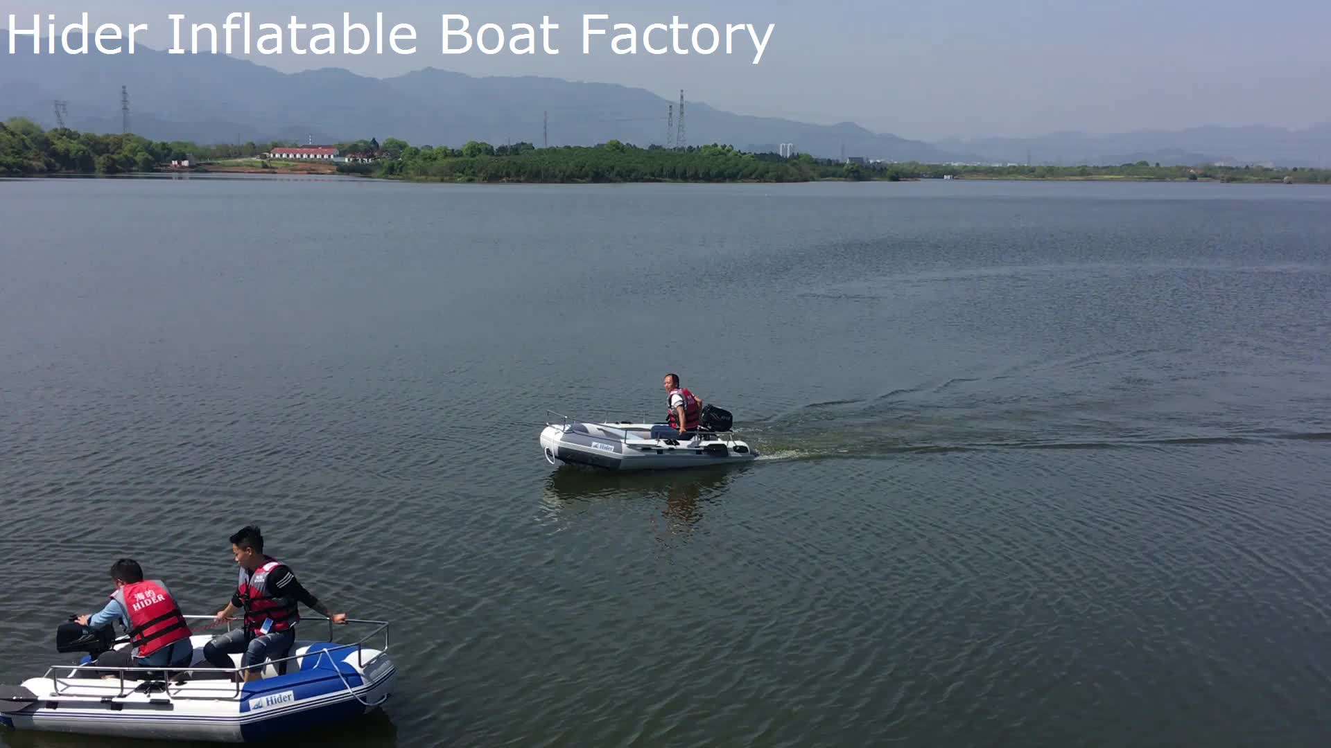 China Hider large color optional inflatable boat with stainless steel guard bar