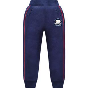 女童运动2019秋冬新款加绒长裤子