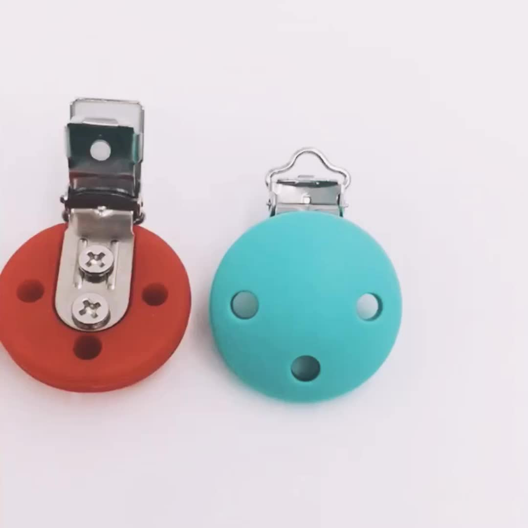 China Manufacturer Wholesale BPA Free Silicone Beads Baby Pacifier Chain Clip