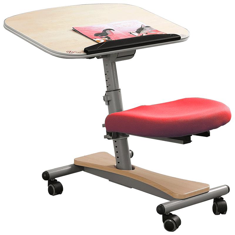 BK百科迪尔儿�童学习桌椅一体可升降家用桌套装学生移动写字书桌