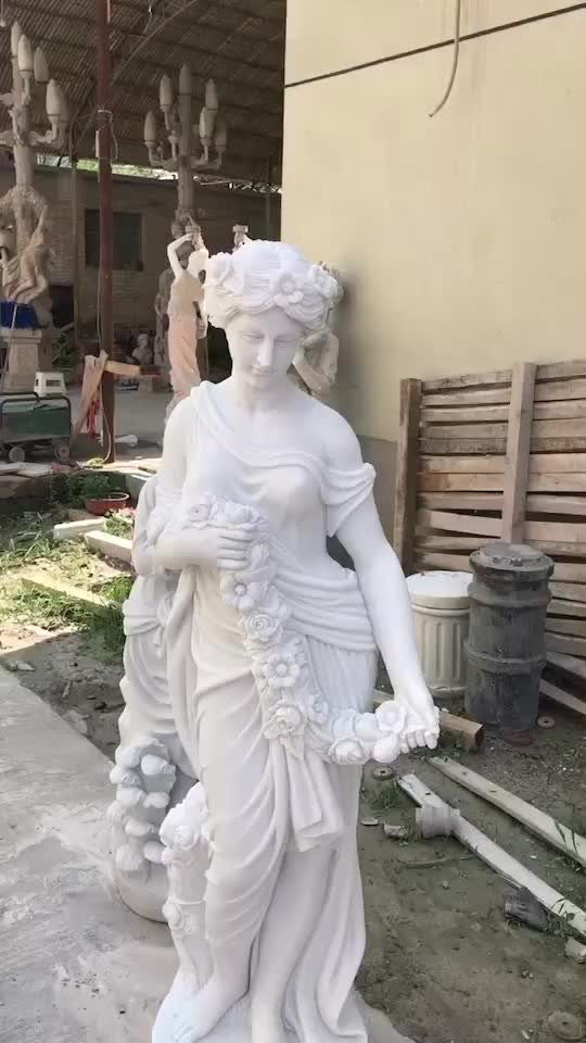 Life Size White Marble Naked Lady Nude Man Sculpture Stone